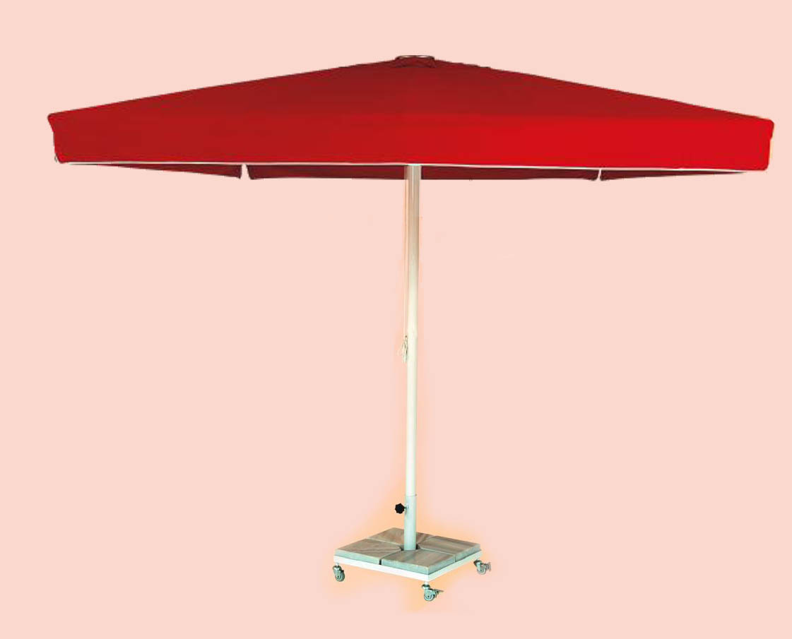 4mt lik Kare Şemsiye - Mermer Ayak Dahil